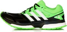 NEW ADIDAS RESPONSE BOOST TECH Techfit Running MENS energy NIB Black Slime Green #adidas #Running