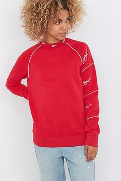 Reebok Triple Logo Red Sweatshirt