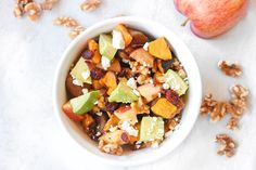 Power Bowl with Sausage, Apples, Butternut Squash, and Avocado