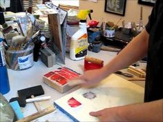 How to transfer magazine paper onto wax