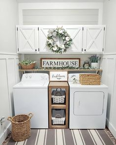 ☛☀ Functional And Stylish Laundry Room Design Ideas To Inspire (Make You. ☛☀ Functional And Stylish Laundry Room Design Ideas To Inspire (Make You Love it 39 Tiny Laundry Rooms, Laundry Room Wall Decor, Laundry Room Remodel, Laundry Room Organization, Laundry Room Design, Laundry Room Shelving, Laundry In Kitchen, Laundry Room Cabinets, Laundry Room Colors
