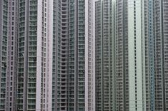 The Dizzying Cityscape of Hong Kong - The Atlantic. Apartment units are clustered tightly together in Hong Kong, on February 2014 Hong Kong Building, Hong Kong Architecture, Urban Landscape, Little Houses, Skyscraper, How To Memorize Things, Cactus, Landscapes, Photography