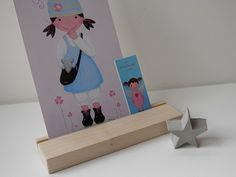#Kartenhalter, Ahorn, #Kartenständer von #kleiner-holzladen