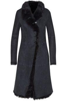Joseph Luke shearling coat   NET-A-PORTER