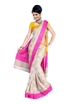 Fabdeal Women's Indian Designer Printed Saree Pink & Grey - http://www.desitoga.com/sari/fabdeal-womens-indian-designer-printed-saree-pink-grey/