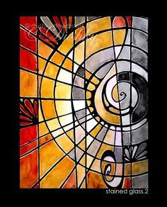 abstract glass painting outlines - Google Search