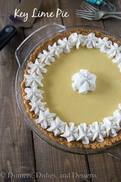 Key Lime Pie - super quick and easy (only 3 ingredients)