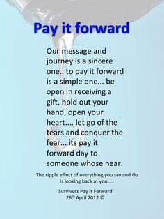 Pay it forward essays