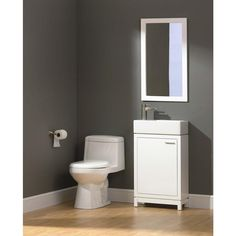 Foremost Kole 19-1/2 in. W x 9-3/4 in. D Vanity in White with Fireclay Basin in White KOWA1934 at The Home Depot - Mobile