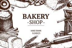 Fresh bread sketch collection by ievgeniia on Creative Market