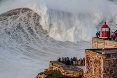 """Isn't that where they have those huge waves?"""", I get the biggest grin on my face."""" I reply, """"They're in Nazaré! Braga Portugal, Spain And Portugal, Algarve, Places To Travel, Places To Go, Big Wave Surfing, Huge Waves, Soul Surfer, Surf City"""