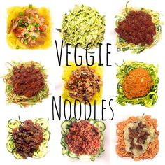 """Hey guys, @danikabrysha here.  I now proudly present to you this veggie noodle collage. Pure art I tell ya. Using vegetables as ""noodles"" has been one of…"""