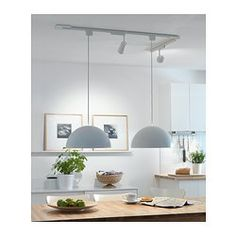IKEA 365 BRASA Pendant lamp shade IKEA Gives a directed light; good for lighting dining tables or coffee tables. Rustic Track Lighting, Kitchen Pendant Lighting, Dining Room Lighting, Home Lighting, Pendant Lamps, Lighting Ideas, Pendant Track Lighting, Pendants, Rustic Lamp Shades