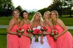 Raccoon Creek Golf Course Wedding Littleton Colorado Bridesmaids Poses