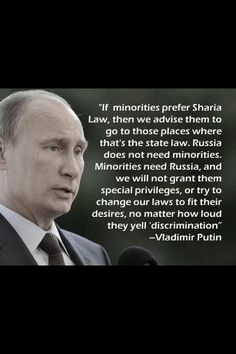 Putin gets it- surprise, surprise. Now why can't virtually every local to federal municipality and government get this?