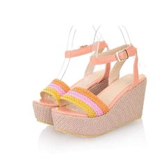 77d5bfd139c1 Charm Foot Fashion Womens Wedge Heel Open Toe Sandals Shoes    More info  could be