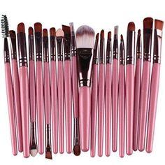 Start 20 pcs Makeup Brush Set tools Make-up Wool Kit (Pink)