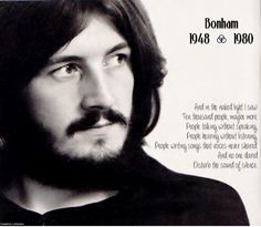 No one dared disturb the sound of silence. #John Bonham (Click for music)