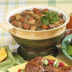 Traditional Lamb Stew Recipe- I roll the lamb in flour before I brown it and omit last step. Perfect for a chilly day!