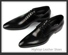 branded black formal shoes