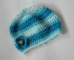 Babymütze, Erstlingsmütze Mädchen,Baumwolle   von Chariscap auf DaWanda.com