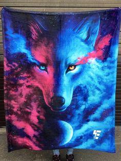 Wolf Galaxy Blanket