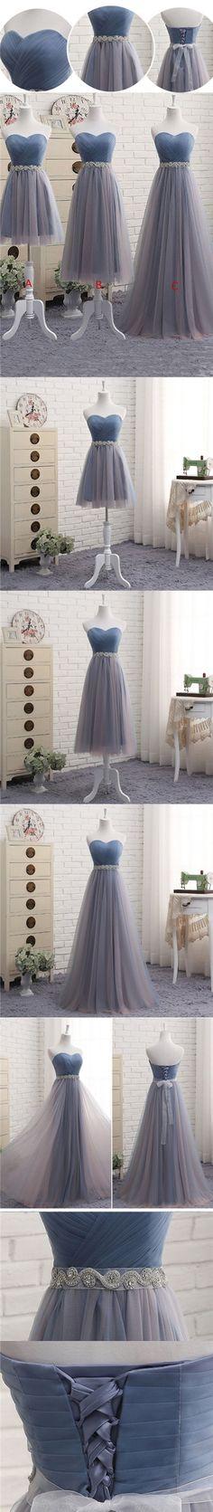Prom Dresses Tulle A-line Sweetheart Prom Dress/Evening Dress #JKL018