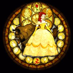 Belle stained glass from kingdom hearts.