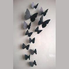 awesome 12pcs 3d mariposa imán, adhesivo de decoración para el hogar