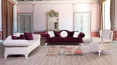 5 Damson Color Living Room Decoration