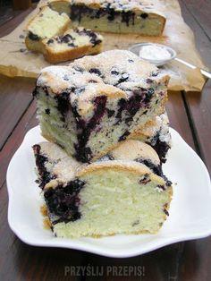Przepyszne ciasto z jagodami New Recipes, Cake Recipes, Cooking Recipes, Sweets Cake, Food Cakes, Tiramisu, Banana Bread, Baking, Fruit