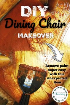 Dining Chair Makeover: Removing Paint Removing Paint From Wood, Stripping Paint, Remove Paint, Painted Wood Chairs, Dining Chair Makeover, Diy Christmas Tree Skirt, Paint Stripper, Diy Wood Wall, Cleaning Wood