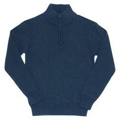 Eddie Bauer Boys' Half Zip Sweater 10-12 - Navy (Blue), Boy's