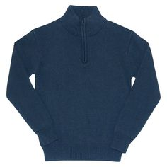 Eddie Bauer Boys' Half Zip Sweater 10-12 - Navy (Blue), Boy's