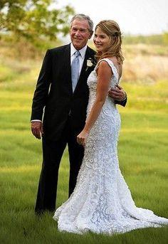 Jenna Bush's Wedding Dress was by Oscar de la Renta.