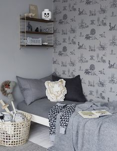 Weekday carnival blog - Dino Grey Wallpaper