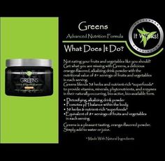 The greens are so good! Ask me how to get the great benefits of #ItWorks greens by emailing SarahBethItWorks@yahoo.com