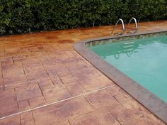 Stamped Concrete, Stained Concrete Concrete Pool Decks A1 Concrete Designs Oviedo, FL