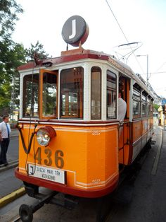 Old tram, Budapest Dandelion Wine, Buses And Trains, Bonde, Mode Of Transport, Old World Charm, Commercial Vehicle, Budapest Hungary, Electric Cars, Coca Cola