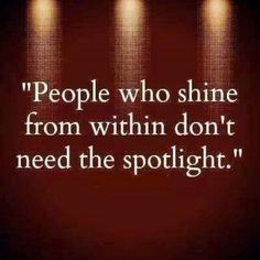 People who shine From within