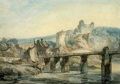 Joseph Mallord William Turner 'Chepstow Castle. Verso: Chepstow Castle', c.1793–4 © Courtauld Institute Gallery, London