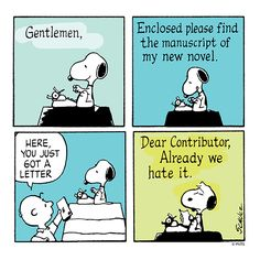Snoopy works on his novel.