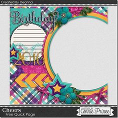 FREE Cheers Quick Page Freebie By Deanna from Connie Prince