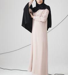 Mushroom Classic Shirt Abaya With Flare - £49.90 : Inayah, Islamic Clothing & Fashion, Abayas, Jilbabs, Hijabs, Jalabiyas & Hijab Pins