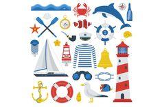 Marine Travel Sea Icon Set by krugli on @creativemarket