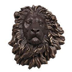 Bronze/Gold Lion Wall Head- bit different to the usual stag motif (from William Francis)