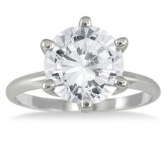 Save $7,500.00 on 1.50 Carat Diamond Solitaire Ring in 14K White Gold; only $2,499.00  #Szul