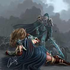 Arthas vs Sylvanas by ZiaurOvi