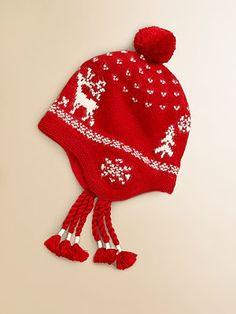 Ralph Lauren Toddler's & Little Girl's Reindeer Hat