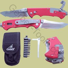 Built with firefighters in mind, the Gerber Hinderer is a knife loaded with features. The blade on this Gerber knife is made of thick, fully serrated stainless steel and is operated by a liner lock release. On the other end is a window punch and a lanyard ring. On the back of the knife is an integrated seat belt / clothing cutter that folds out of the way when not in use. In the middle of the knife there is a built in slot that allows the knife to operate as an oxygen tank wrench. A…